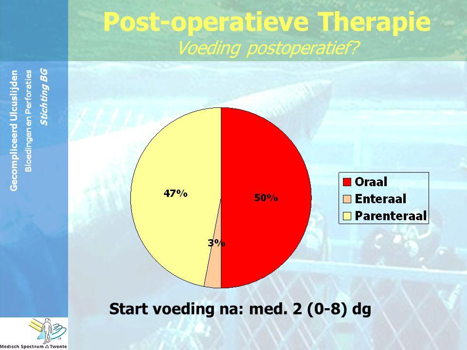 Post-operatieve Therapie Voeding postoperatief