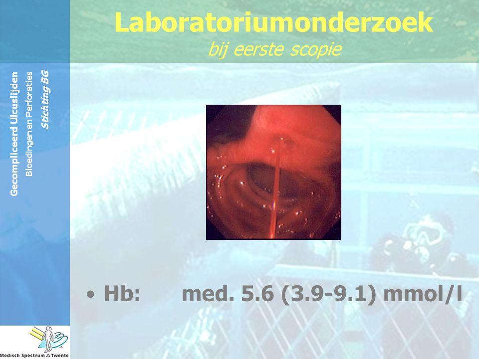 Laboratoriumonderzoek bij eerste scopie
