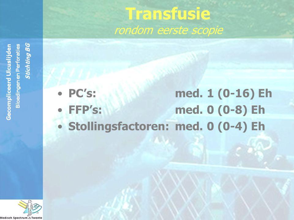 Transfusie rondom eerste scopie