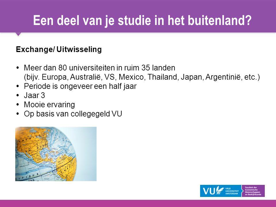 Een deel van je studie in het buitenland