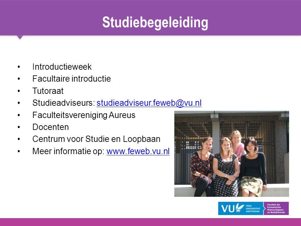 Studiebegeleiding Introductieweek Facultaire introductie Tutoraat