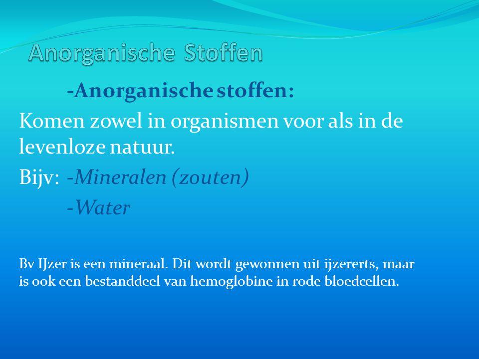 Anorganische Stoffen -Anorganische stoffen: