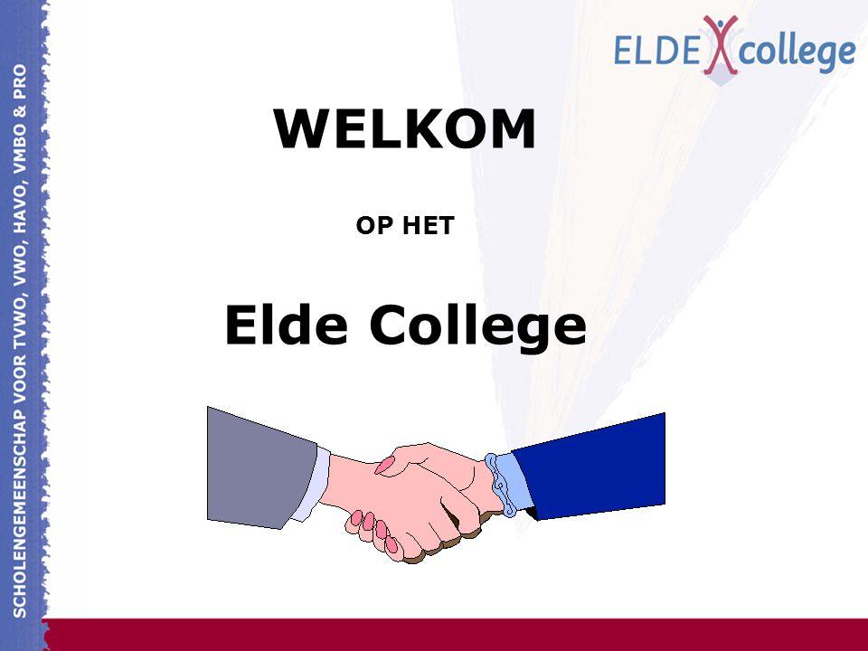 WELKOM OP HET Elde College