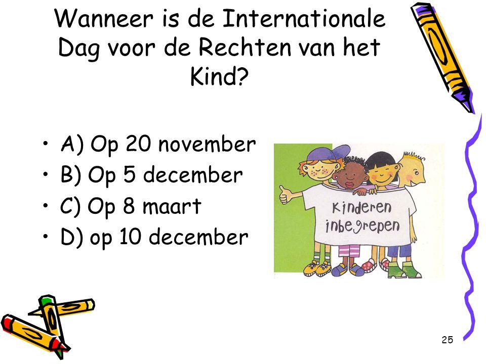 Wanneer is de Internationale Dag voor de Rechten van het Kind
