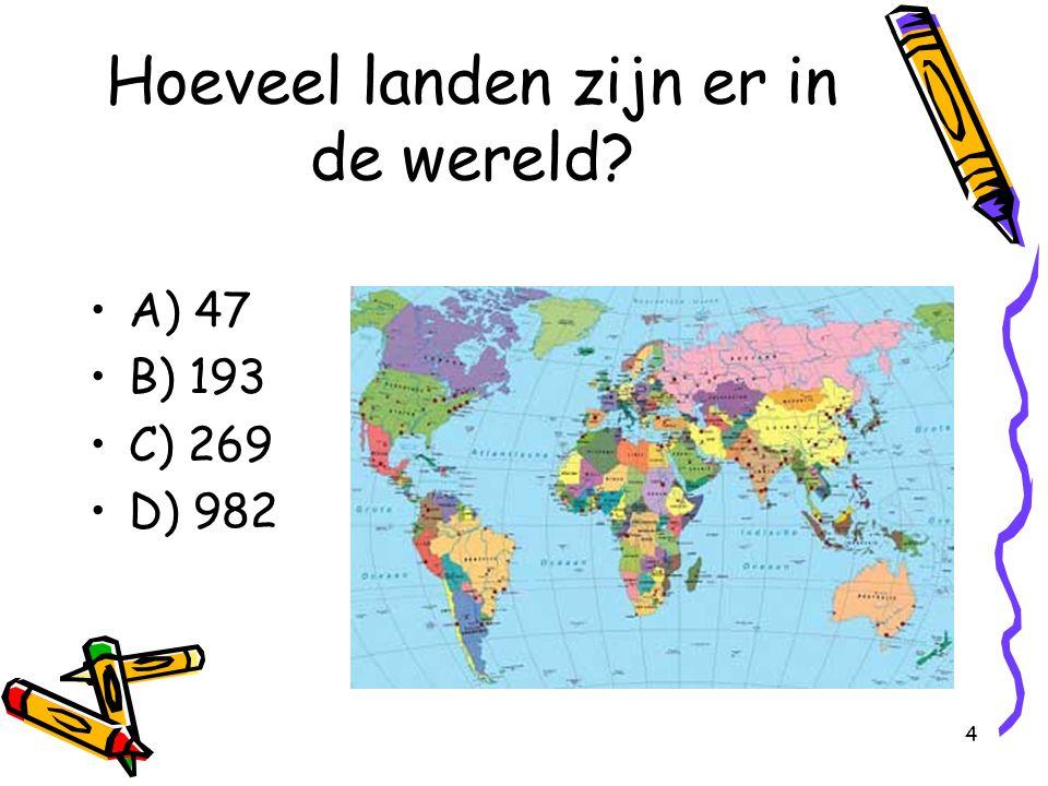 Hoeveel landen zijn er in de wereld
