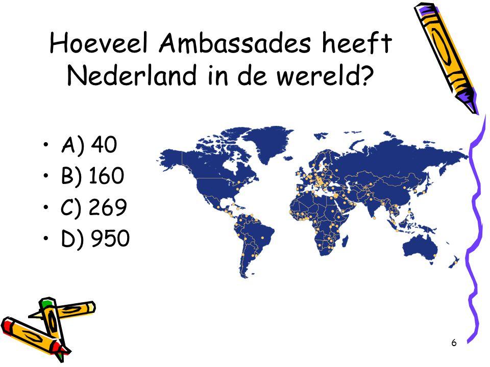 Hoeveel Ambassades heeft Nederland in de wereld