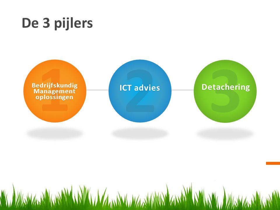 1 2 3 De 3 pijlers ICT advies Detachering Bedrijfskundig Management