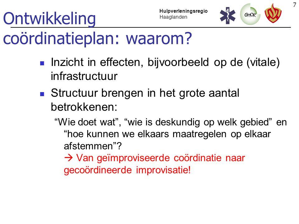 Ontwikkeling coördinatieplan: waarom
