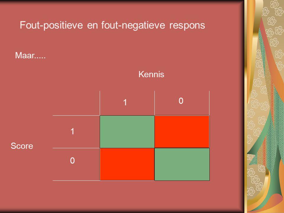 Fout-positieve en fout-negatieve respons
