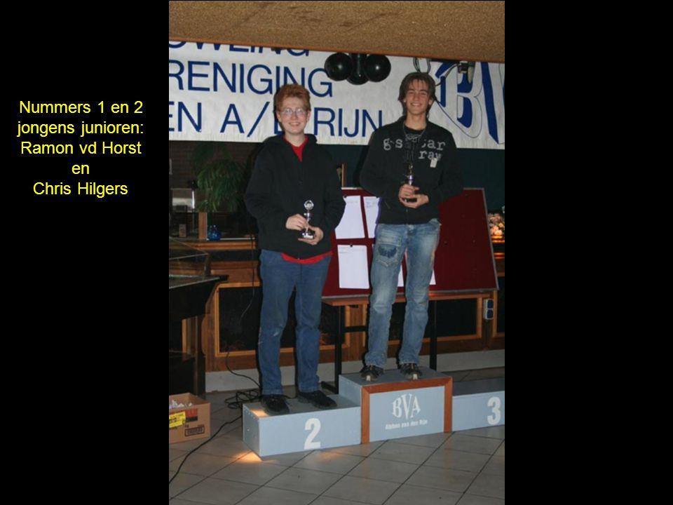 Nummers 1 en 2 jongens junioren: Ramon vd Horst en Chris Hilgers