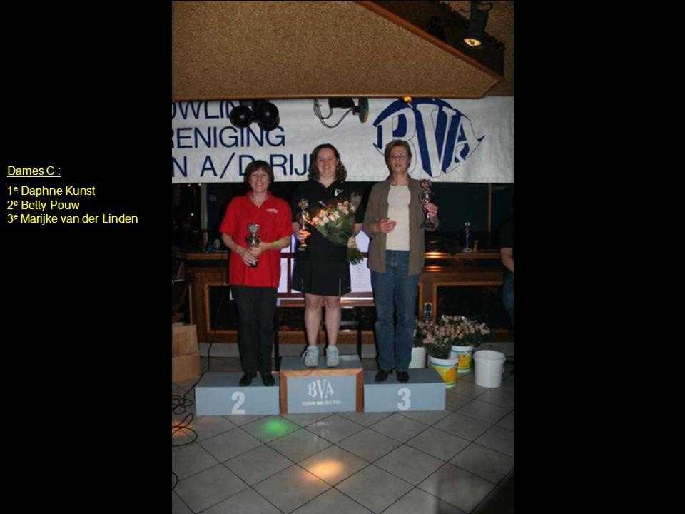 Dames C : 1e Daphne Kunst 2e Betty Pouw 3e Marijke van der Linden
