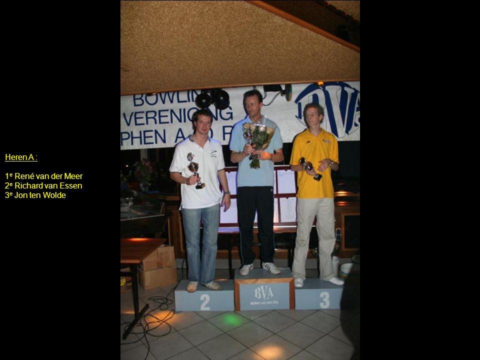 Heren A : 1e René van der Meer 2e Richard van Essen 3e Jon ten Wolde