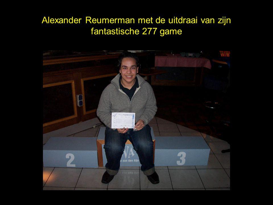 Alexander Reumerman met de uitdraai van zijn fantastische 277 game