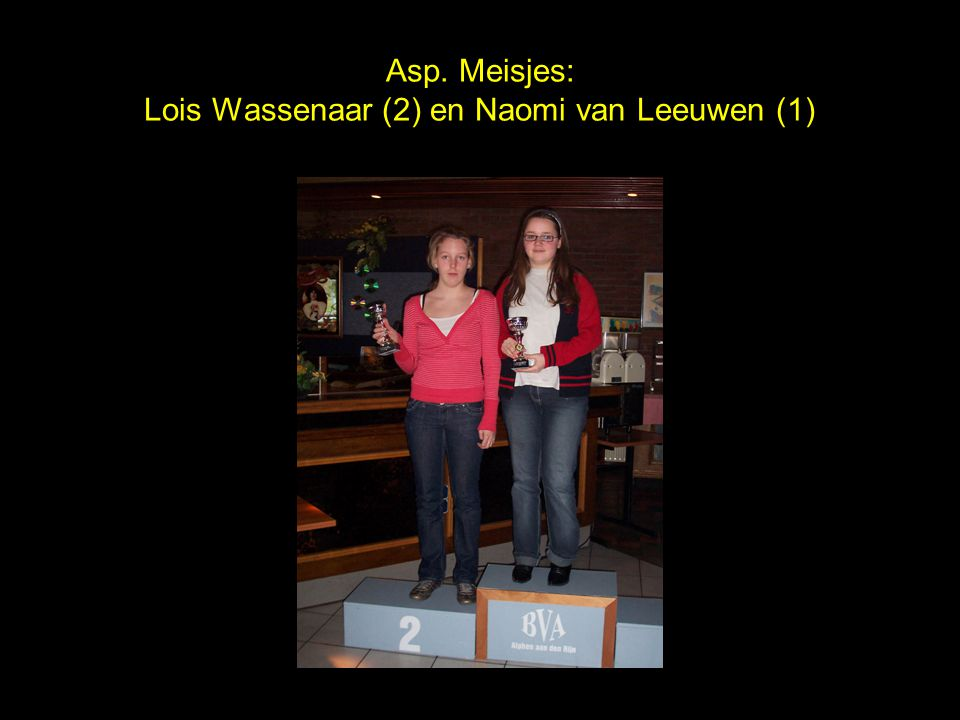 Asp. Meisjes: Lois Wassenaar (2) en Naomi van Leeuwen (1)