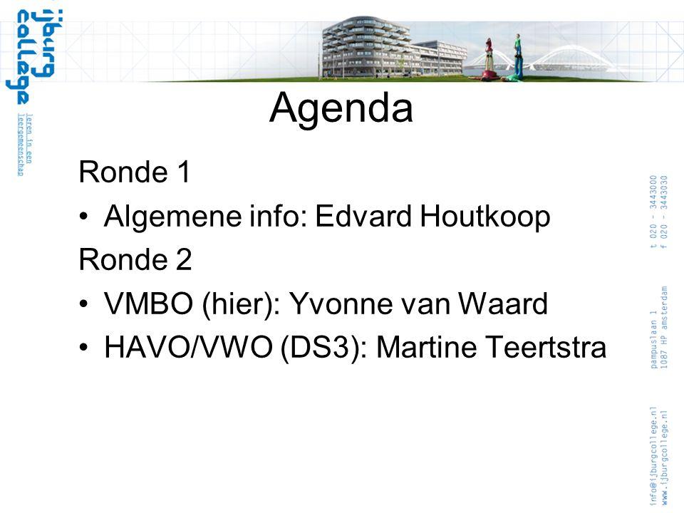 Agenda Ronde 1 Algemene info: Edvard Houtkoop Ronde 2