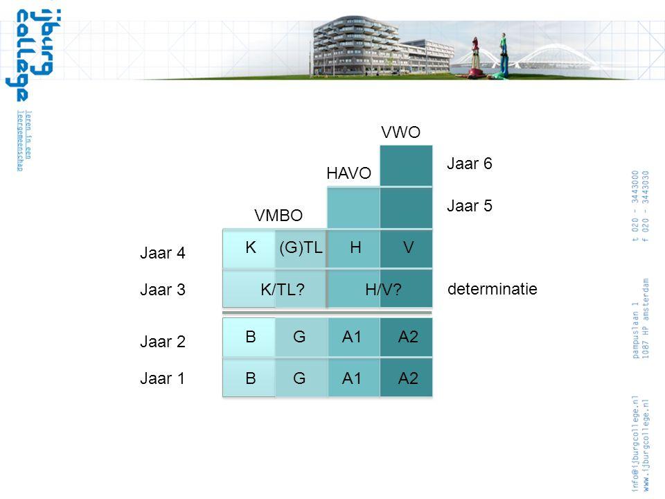 VWO Jaar 3. Jaar 4. Jaar 5. Jaar 6. HAVO. VMBO. K (G)TL H V. K/TL H/V