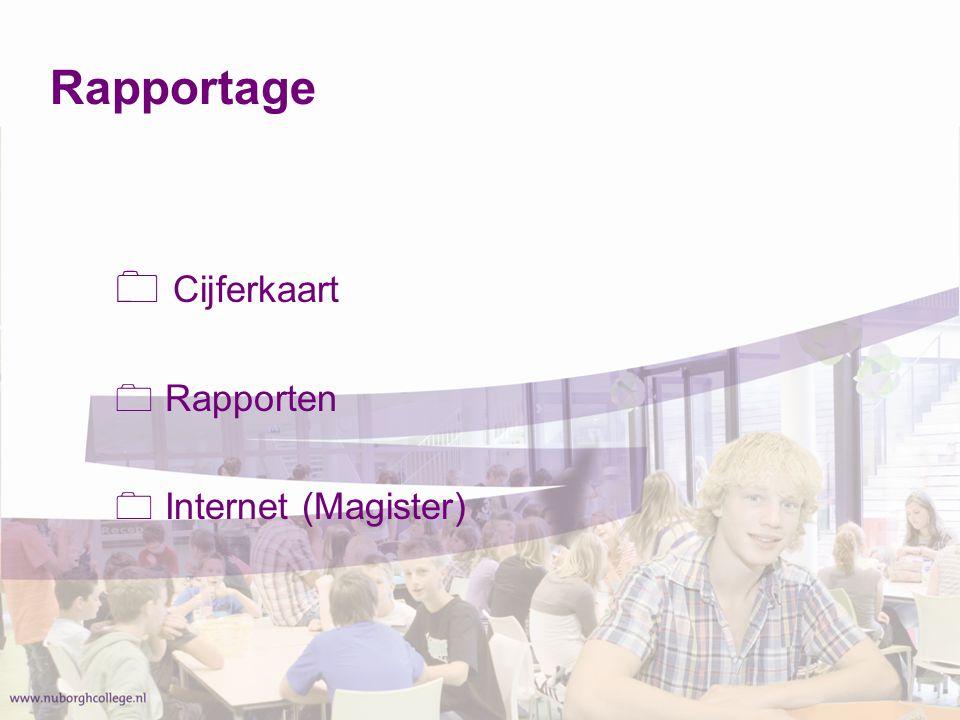 Rapportage Cijferkaart Rapporten Internet (Magister)