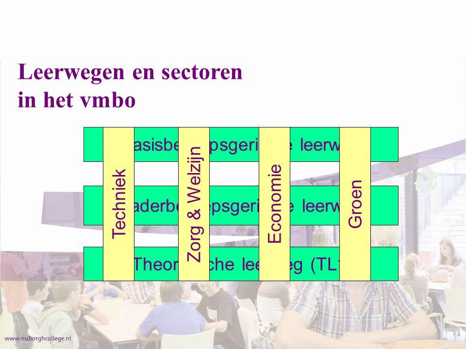 Leerwegen en sectoren in het vmbo