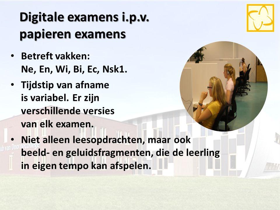 Digitale examens i.p.v. papieren examens