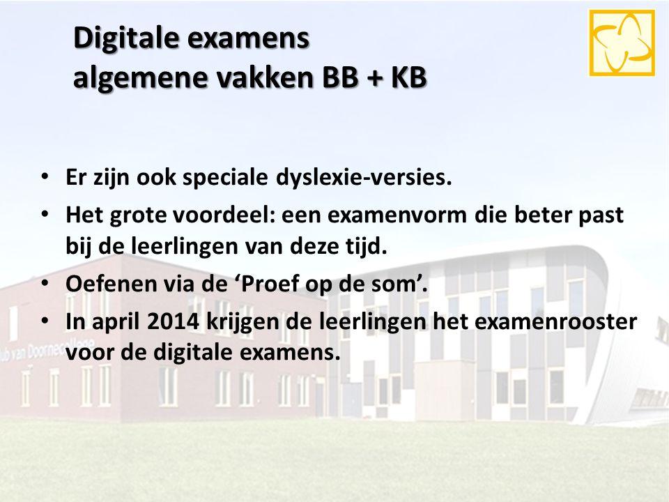 Digitale examens algemene vakken BB + KB
