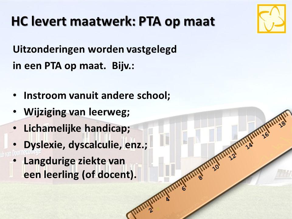 HC levert maatwerk: PTA op maat