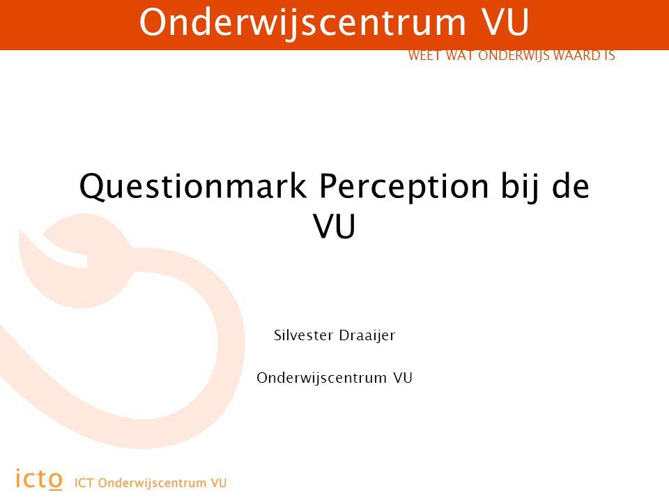 Questionmark Perception bij de VU