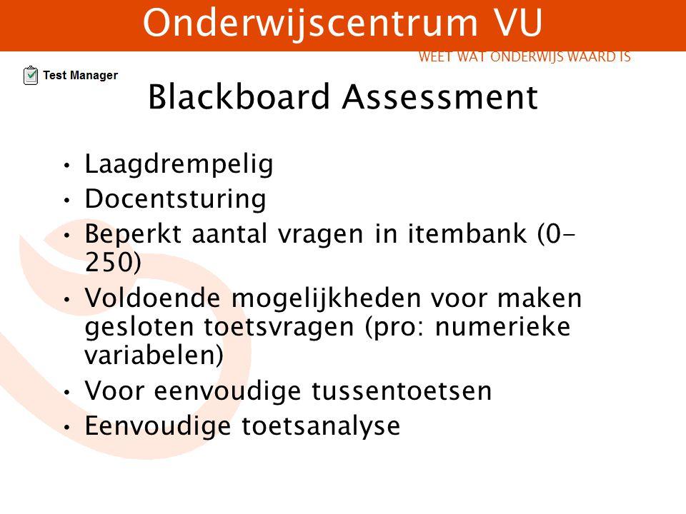 Blackboard Assessment