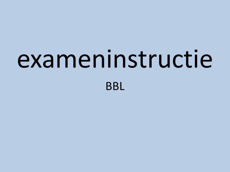 exameninstructie BBL