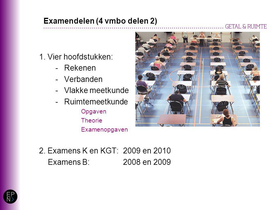 Examendelen (4 vmbo delen 2)