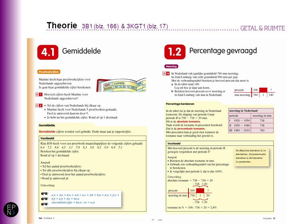 Theorie 3B1 (blz. 166) & 3KGT1 (blz. 17)