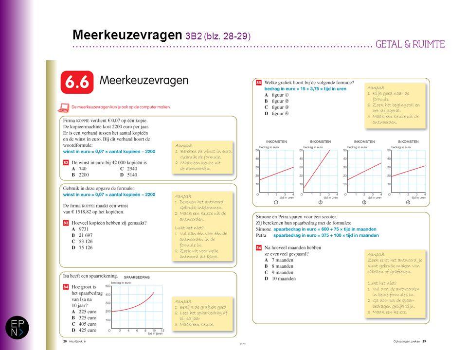 Meerkeuzevragen 3B2 (blz. 28-29)