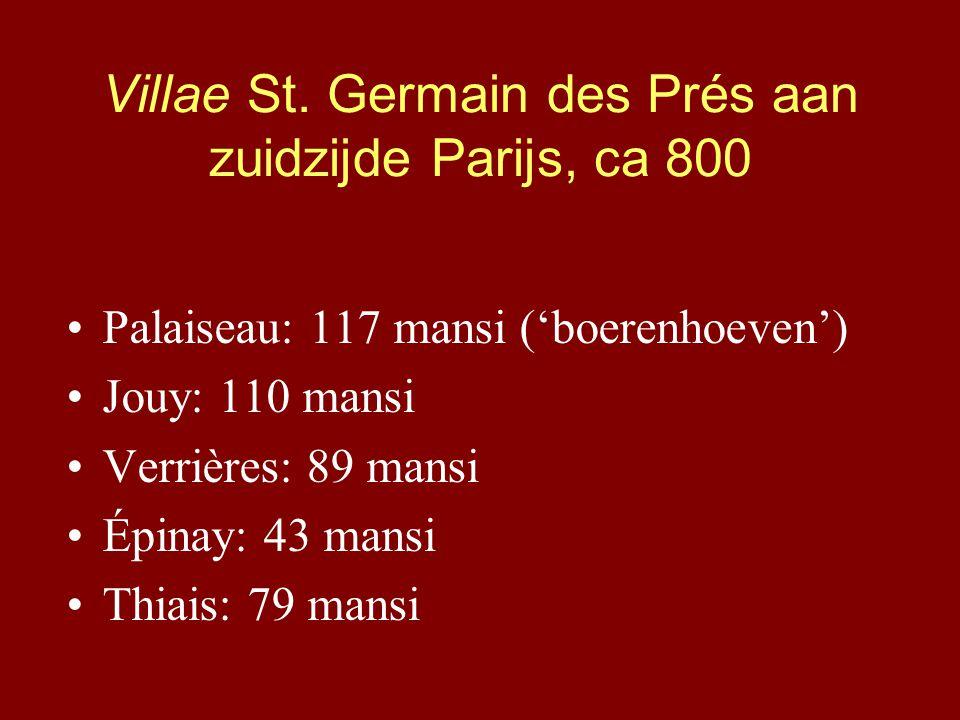 Villae St. Germain des Prés aan zuidzijde Parijs, ca 800