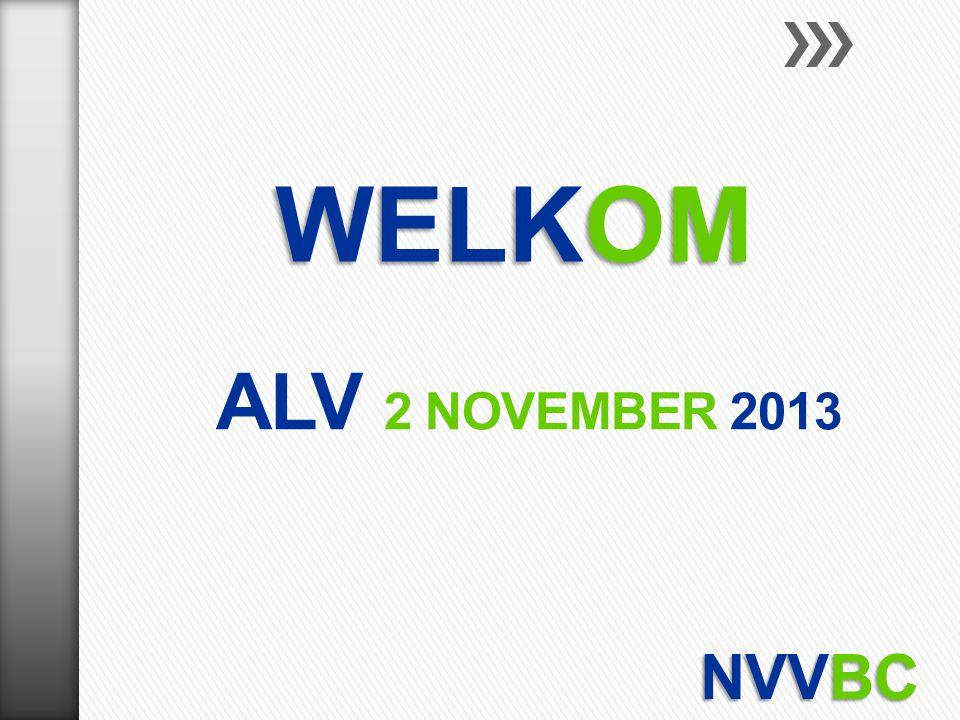 WELKOM ALV 2 november 2013 NVVBC