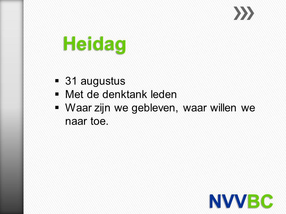 Heidag NVVBC 31 augustus Met de denktank leden