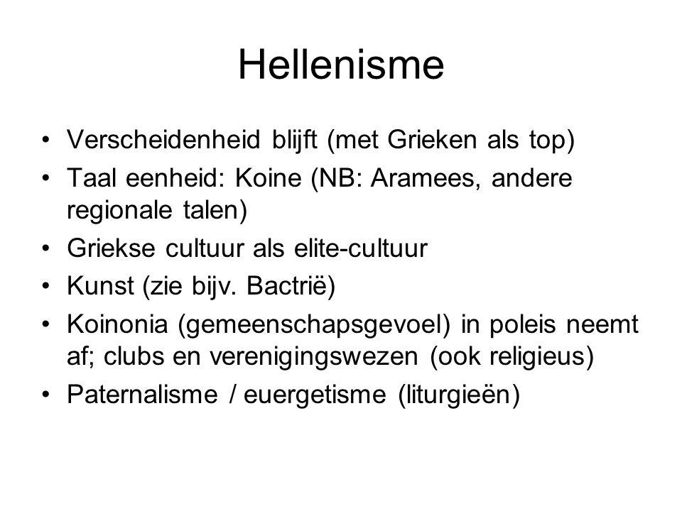 Hellenisme Verscheidenheid blijft (met Grieken als top)