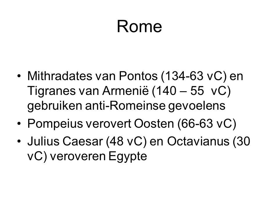 Rome Mithradates van Pontos (134-63 vC) en Tigranes van Armenië (140 – 55 vC) gebruiken anti-Romeinse gevoelens.