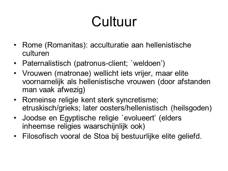 Cultuur Rome (Romanitas): acculturatie aan hellenistische culturen