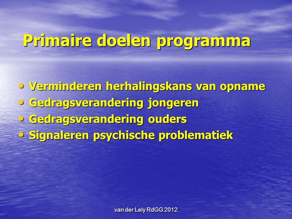 Primaire doelen programma