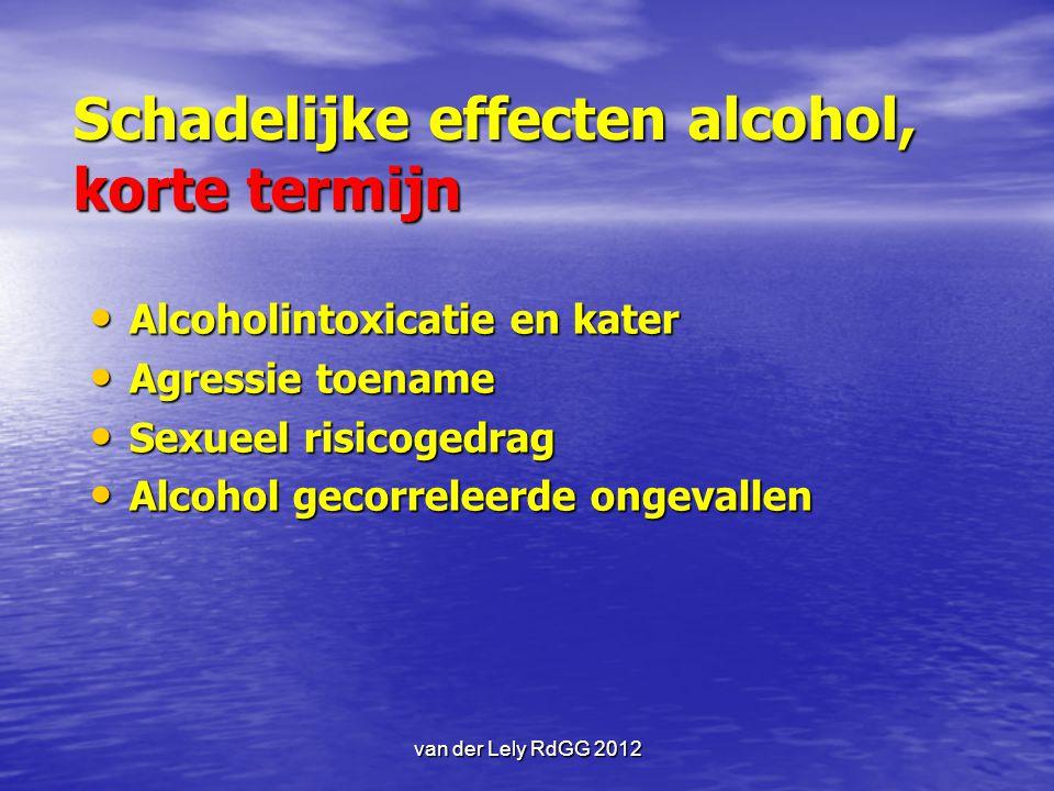 Schadelijke effecten alcohol, korte termijn