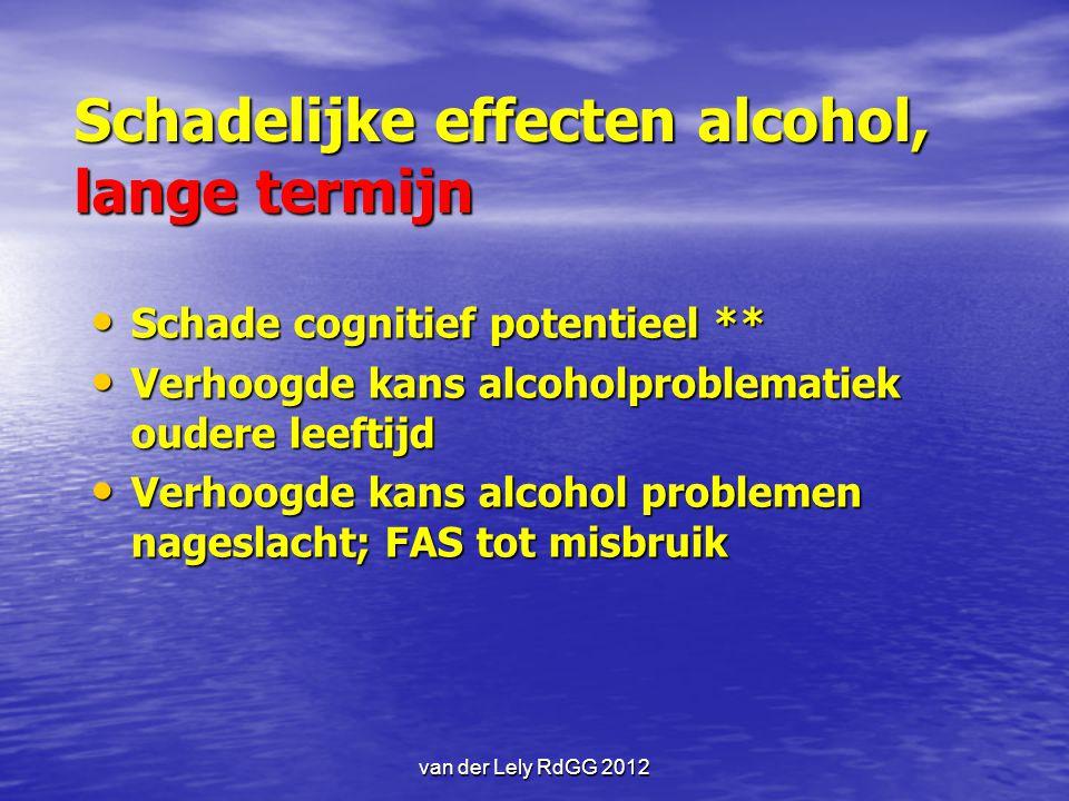 Schadelijke effecten alcohol, lange termijn