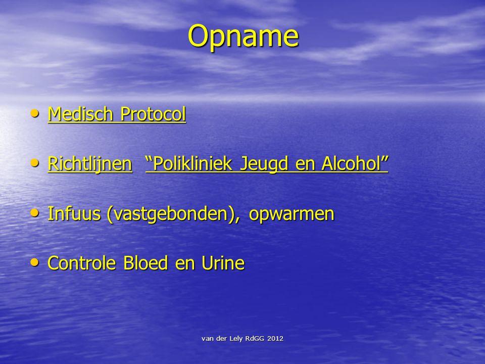 Opname Medisch Protocol Richtlijnen Polikliniek Jeugd en Alcohol