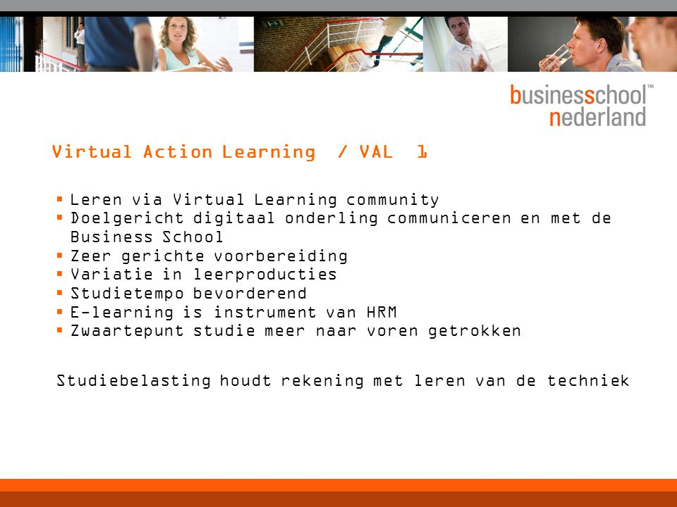 Virtual Action Learning / VAL 1