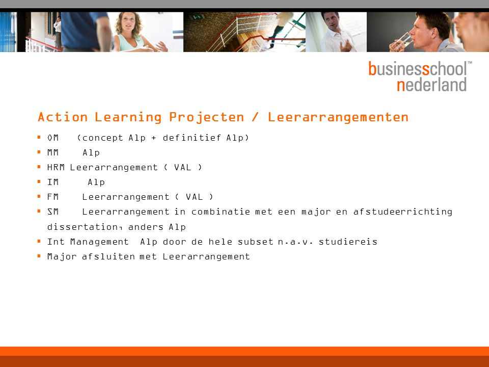 Action Learning Projecten / Leerarrangementen