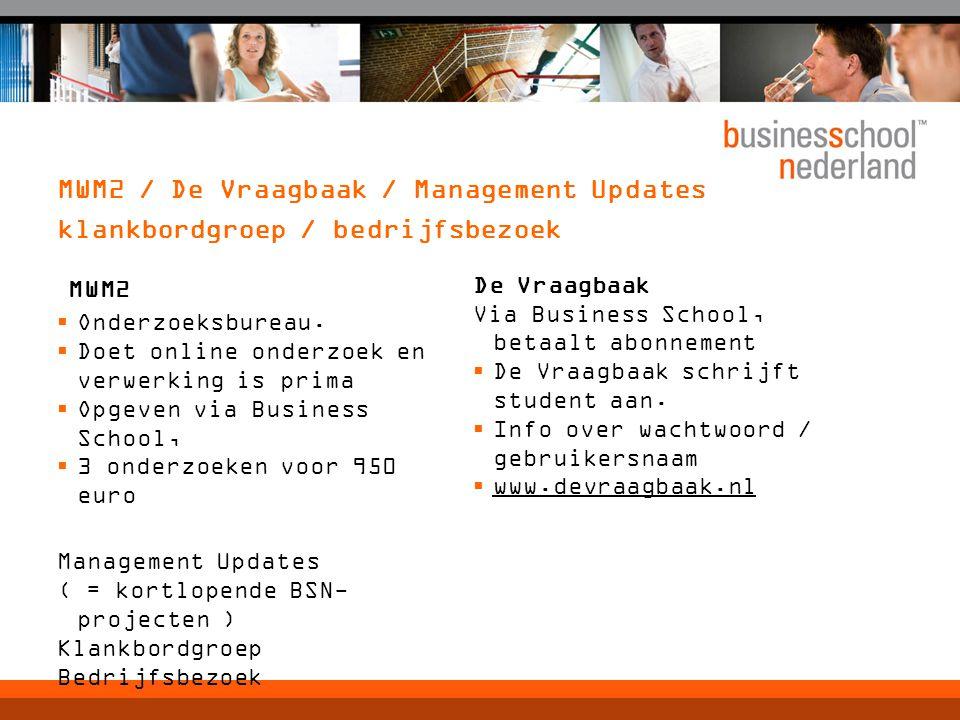 MWM2 / De Vraagbaak / Management Updates klankbordgroep / bedrijfsbezoek