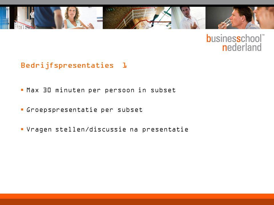 Bedrijfspresentaties 1
