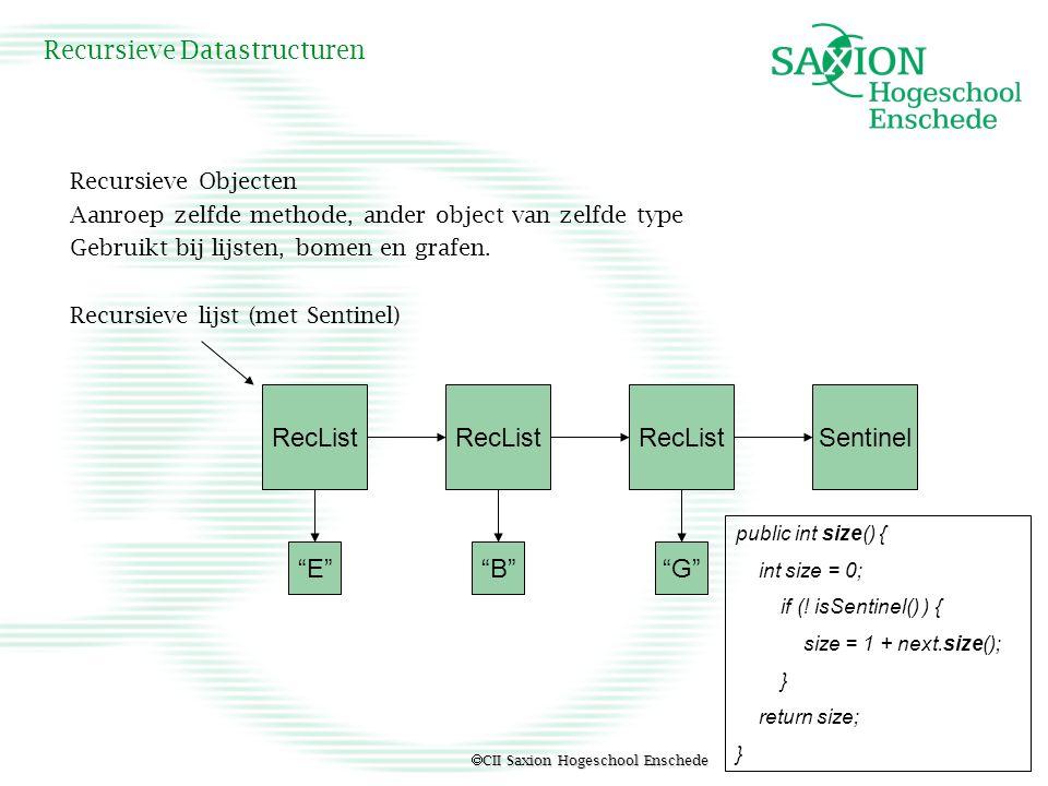 Recursieve Datastructuren