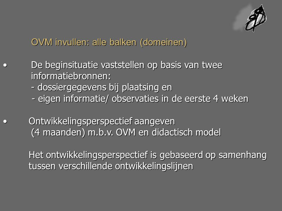 OVM invullen: alle balken (domeinen)