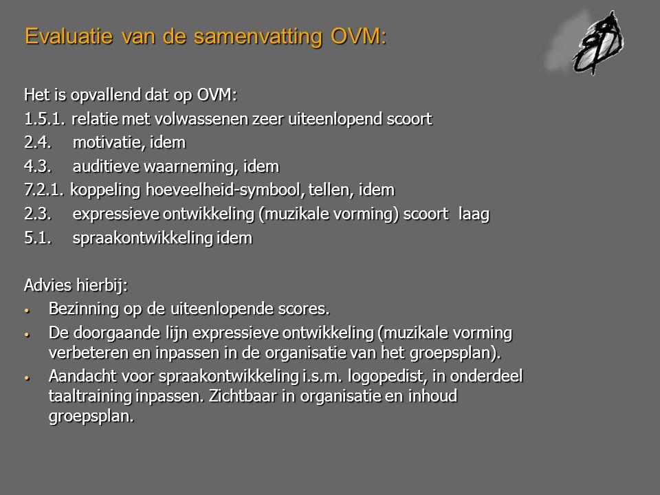 Evaluatie van de samenvatting OVM: