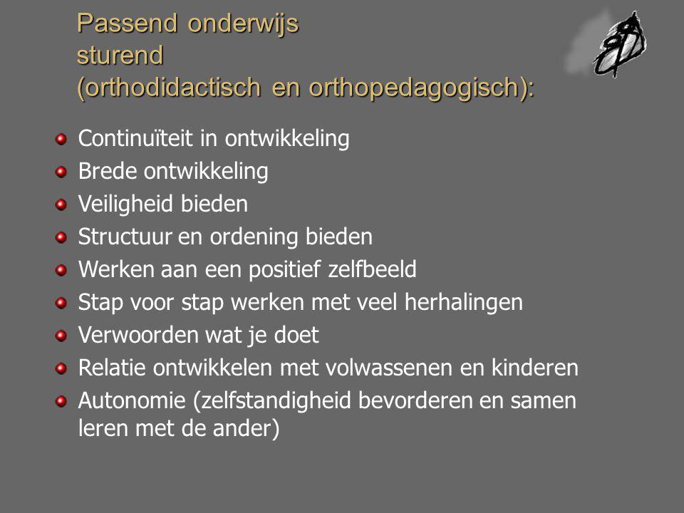 Passend onderwijs sturend (orthodidactisch en orthopedagogisch):