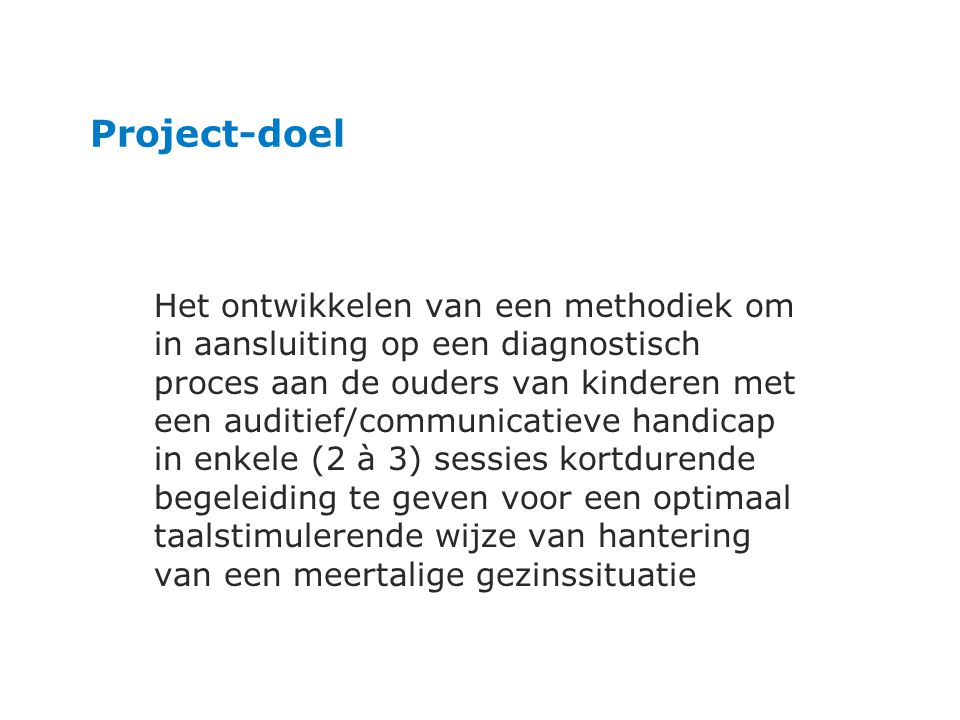 Project-doel